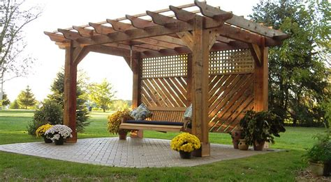 how to build a pergola swing pergola with swing in johnstown ohio gardening pinterest