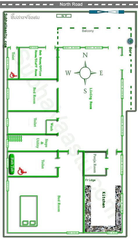 facing vastu house plan subhavaastu