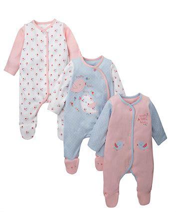 Sleepsuit Mothercare Sale 1 Mothercare Bird Sleepsuits 3 Pack Sleepsuits Mothercare