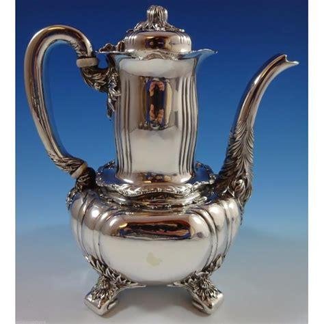 chrysanthemum  tiffany   sterling silver tea set