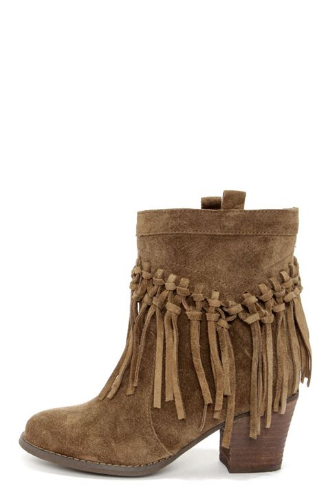 fringe boots suede boots fringe boots booties 114 00
