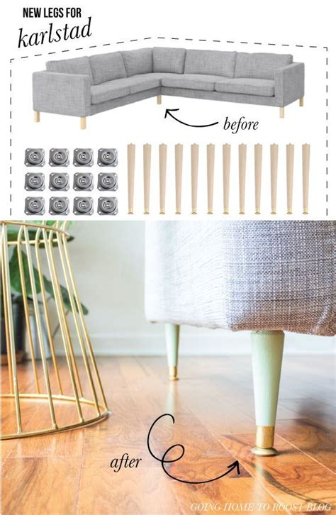 Legs For Karlstad Sofa by Replacing The Legs On Our Karlstad Sofa Diy