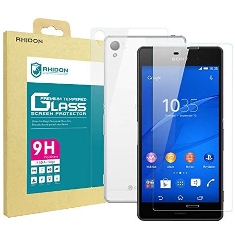 Tempered Glass Glitter Skin For Sony Xperia Z3 rhidon sony xperia z3 front back tempered glass screen import it all