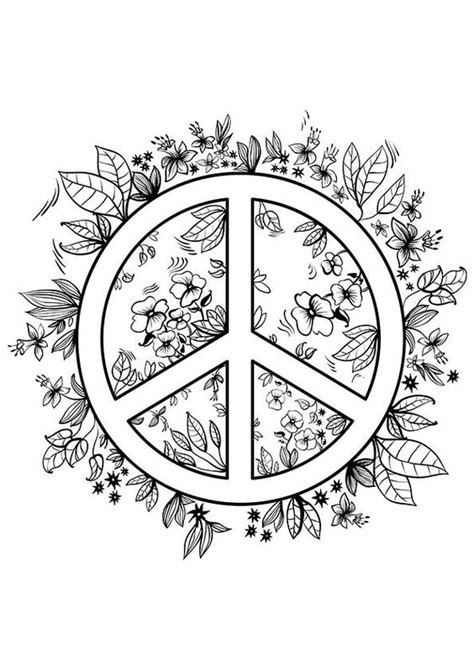coloring pages for adults peace simple and attractive free printable peace sign coloring