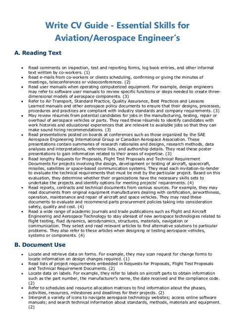Personal Statement Resume Examples by Write Cv Guide Essential Skills For Aviation Aerospace