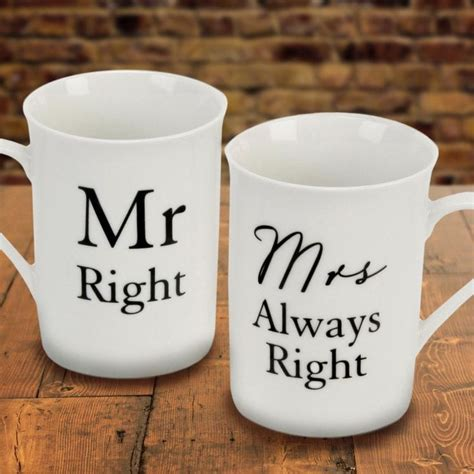 mr right mrs always right mugs find me a gift