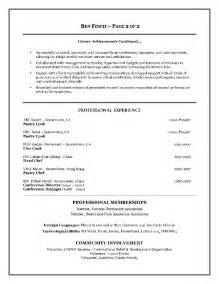 Exle Of Canadian Resume by Professional Resume Canada