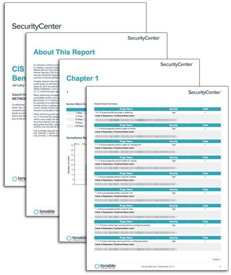 Cis Report Template Cis Centos Linux Benchmark Reports Sc Report Template