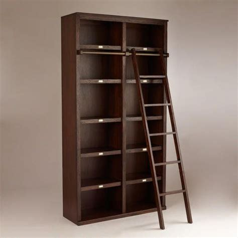 library bookshelf with sliding ladder products i