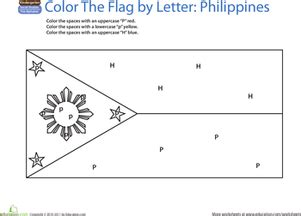 World Flags Coloring Page Philippines Worksheet Philippines Flag Coloring Page
