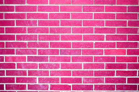 pink brick wall hot pink brick wall texture picture free photograph