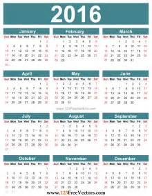 template of a calendar free editable 2016 calendar free vector