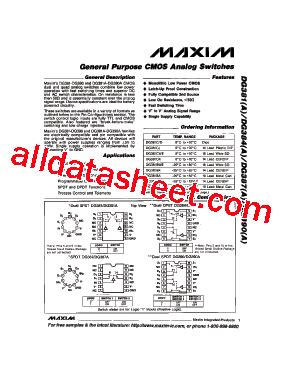 maxim integrated products employee benefits dg390acj datasheet pdf maxim integrated products