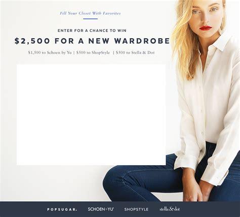 Shopping Giveaway - win a 2 500 shopping spree popsugar fashion