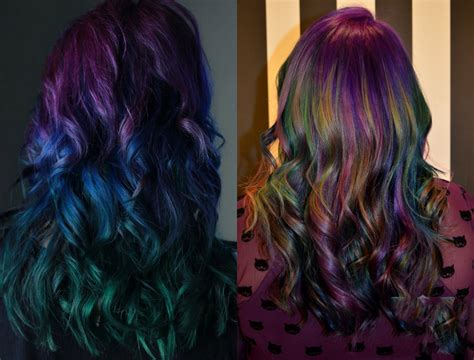 new hair styles with oil and water oil slick hair colors pastel for brunettes hairstyles
