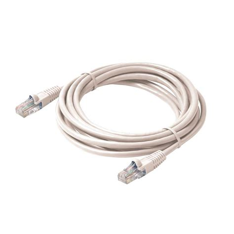 Patch Cord Cat5 35m Izinet steren 25 ft molded cat5e utp patch cord white st 308 625wh the home depot