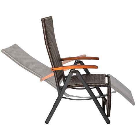 poltrona poggiapiedi poltrona relax poly rattan alluminio giardino sedia con