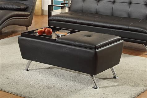 black faux leather ottoman black faux leather storage ottoman