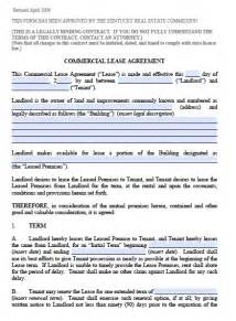 free kentucky commercial lease agreement pdf template