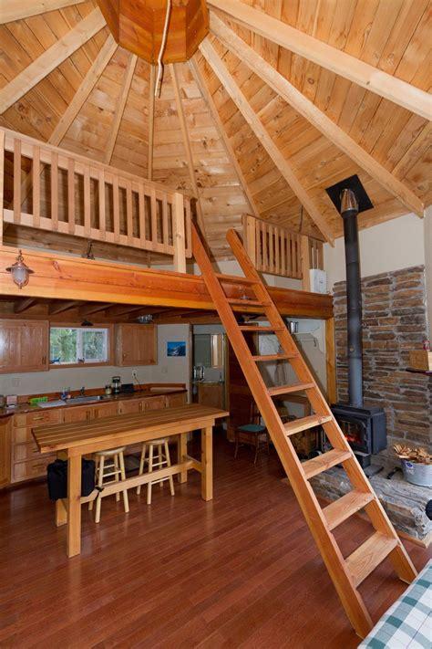 small  sq ft solar powered cabin built   lake