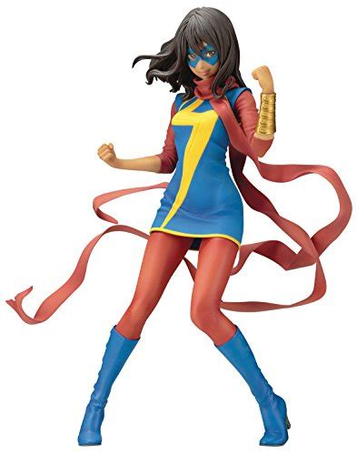 Kotobukiya Mk221 Ms Marvel Kamala Khan kotobukiya marvel ms marvel kamala khan bishoujo statue import it all