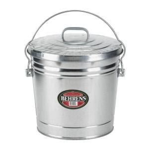 home depot paint lid behrens 6 gal galvanized steel trash can with