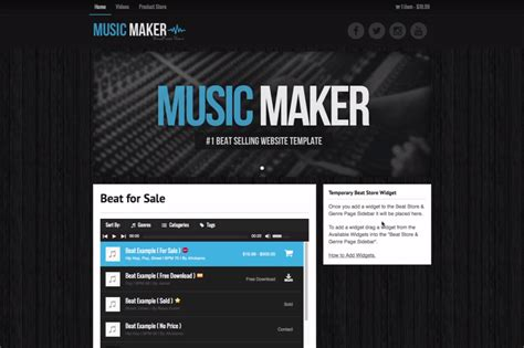 theme music maker homepage banners music maker wordpress theme help