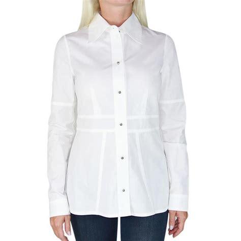 louis vuitton white new peplum blouse button up sleeve lv xs button size 2 xs