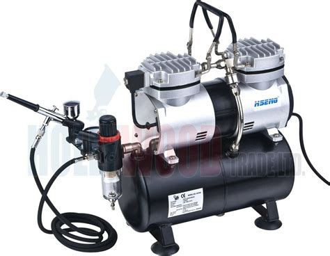 mini airbrush compressor with tank as196 kit ebay