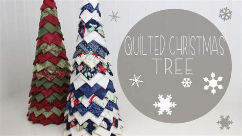 you have to see no sew quilted christmas tree by rachel