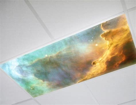 fluorescent light covers fabric astronomy on ceiling lighting pics about space