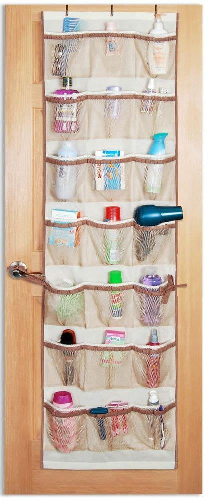 mesh pockets over door organizer caddy wall hanging rack
