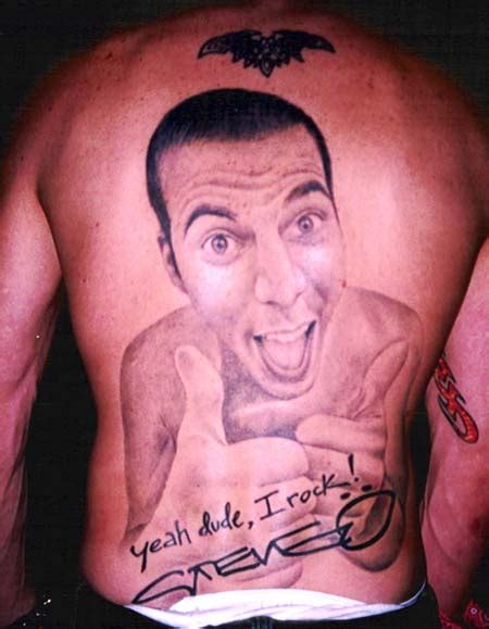 stevo back tattoo steve o quotes quotesgram