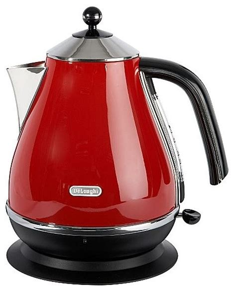 Toaster Uk Delonghi Red Icona Kettle Modern Kettles By House Of