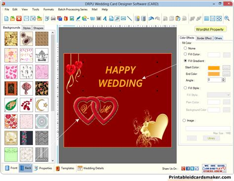 Wedding Card Maker by Wedding Cards Maker Software Screenshots To Create Own