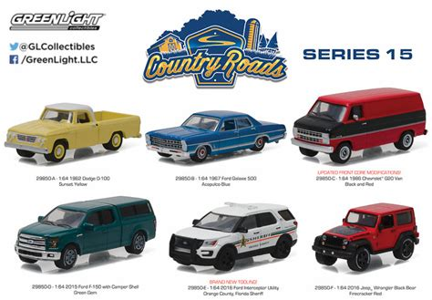 Greenlight 1 64 Country Roads 1976 Ford Bronco Explorer Orange Promo county roads greenlight collectibles