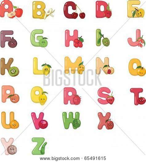 u letter fruit alphabet fruits z vector photo bigstock