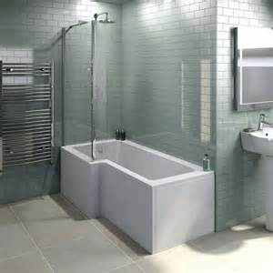 1500 L Shaped Shower Bath Boston Shower Bath 1500 X 850 Lh Inc Screen