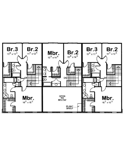 Triplex Floor Plans by Amazingplans Multi Plex Plan Db7233 Triplex