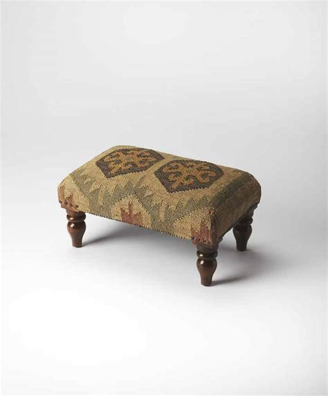 southwestern chairs and ottomans southwestern patterned fabric upholstered ottoman wooden