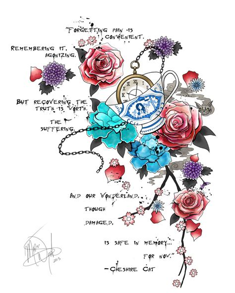 alice in wonderland tattoo design in tattoos design images style