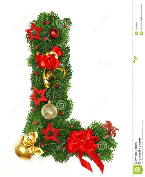 christmas alphabet letter l stock photo image 16639914