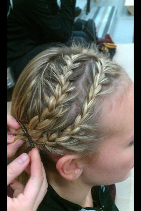 sport hairstyles pinterest double french braid into ponytail hair pinterest