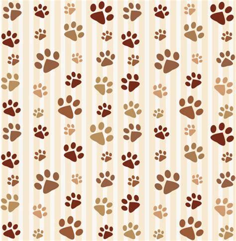 pattern vector cute animal footprints cute pattern vector free vector in