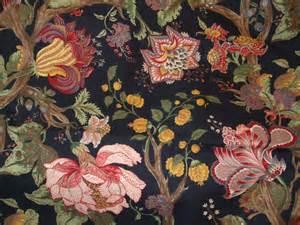 Victorian Home Decor For Sale western textile black 100 cotton floral fabric