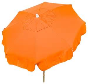 Orange Patio Umbrella Italian Umbrella Orange 72 Quot X91 Quot Patio Pole Traditional Outdoor Umbrellas By Heininger