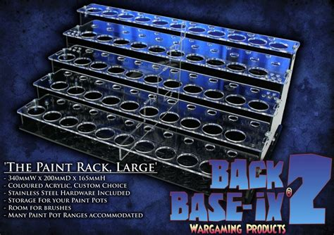 Acrylic Paint Holder Rack by Acrylic Paint Storage Racks For Tabletop Miniature Paints