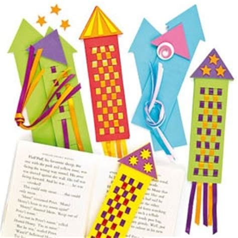 printable rocket bookmarks woven rocket bookmark clever for kids pinterest