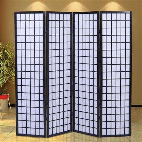 Japanese Room Divider Uk Four Panel Shoji Screen Room Dividers Uk