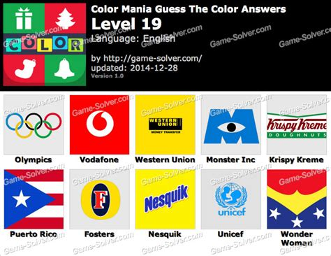 guess the color answers color mania guess the color level 19 solver